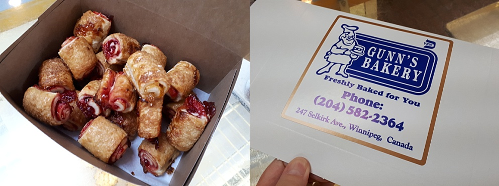 2-photo collage of rugelach cookies