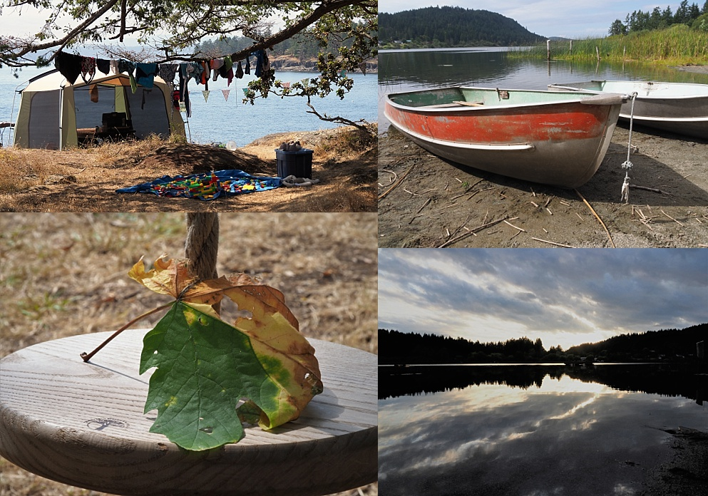 4-photo collage from Salt Spring Island