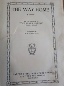Title page of 1919 book, The Way Home