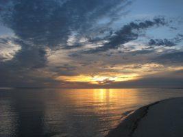 Sunset on Biloxi beach