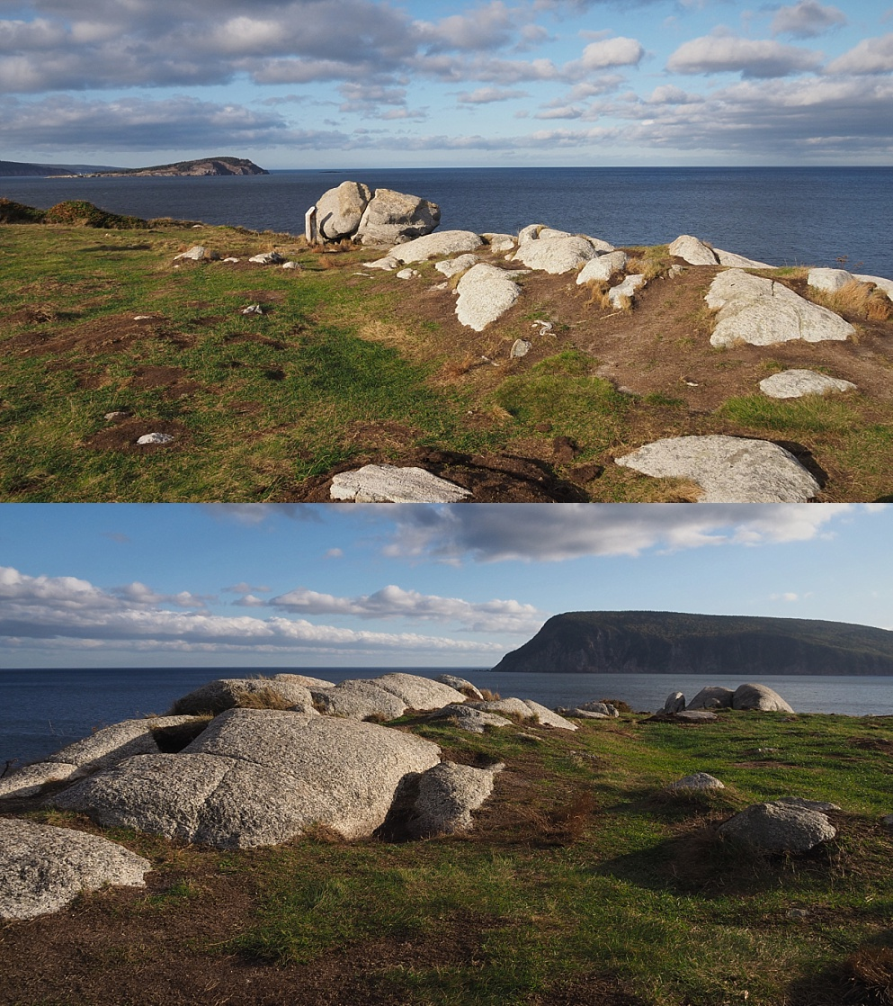 2-photo collage of scenic cliffs
