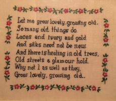 Cross-stitch of Let Me Grow Lovely