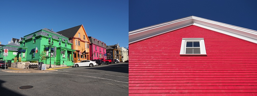2-photo collage of Lunenberg street to illustrate compositon