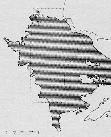Drawing of Lake Agassiz