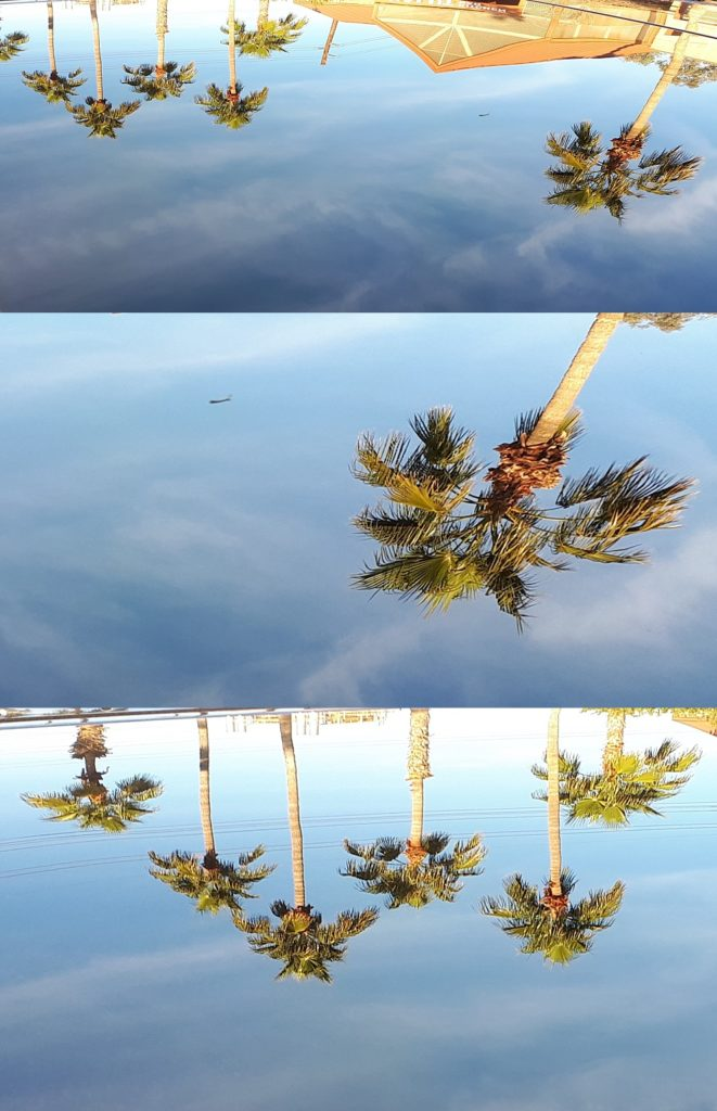 Collage of reflection photos to show compisition problems