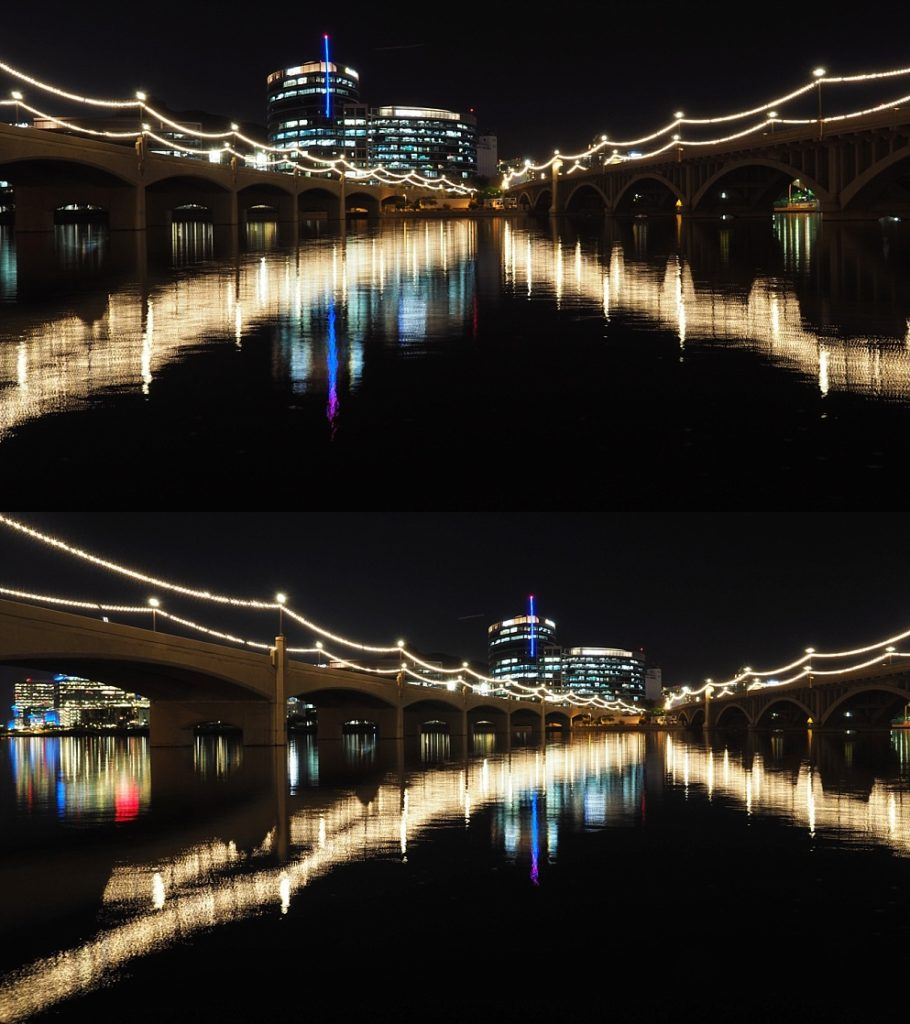 Two views of Mill Avenue Bridges