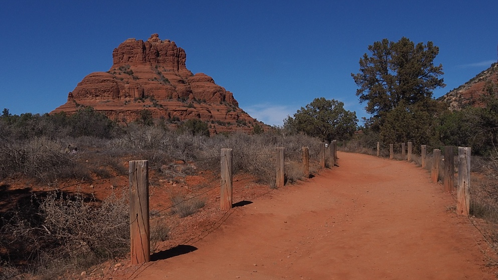 Red path leading to Bell Rock