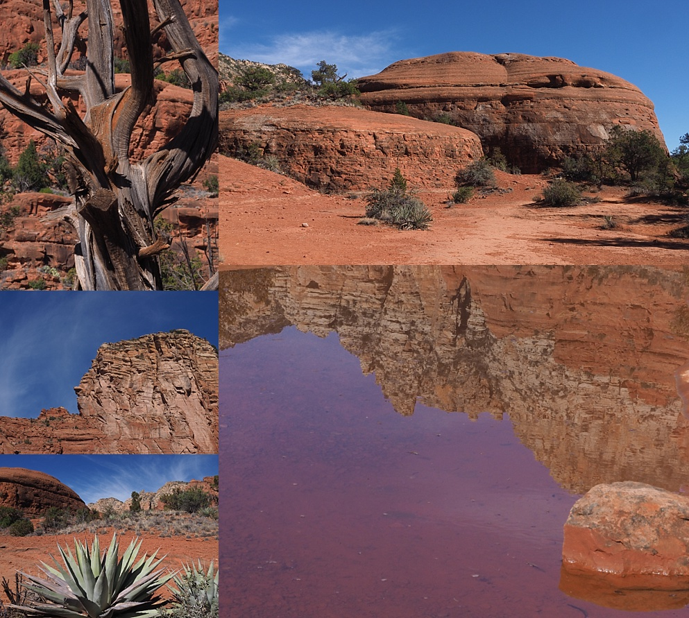 Collage of views along Courthouse Butte Loop