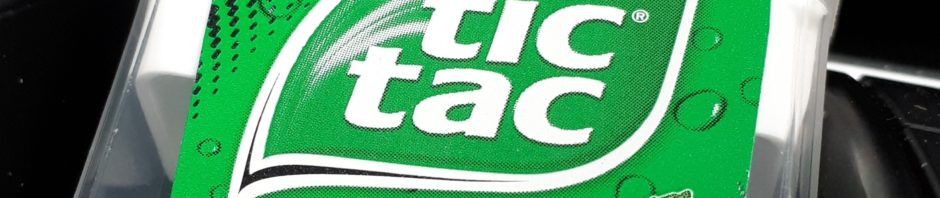 tictac package in car console