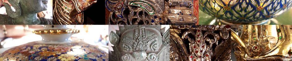 Collage of Thai art