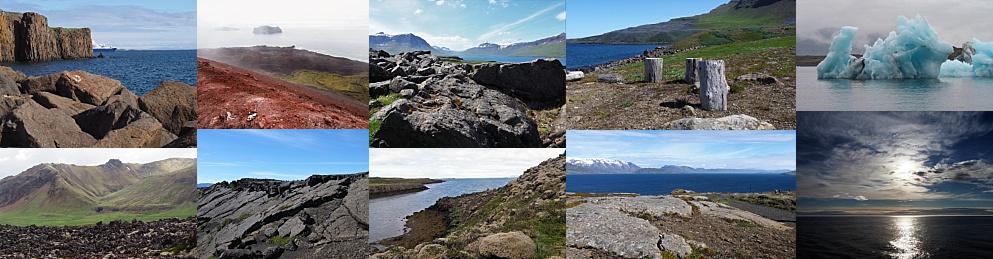 Collage of Icelandic landscapes
